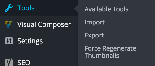 Force Regenerate Thumbnails dashboard location